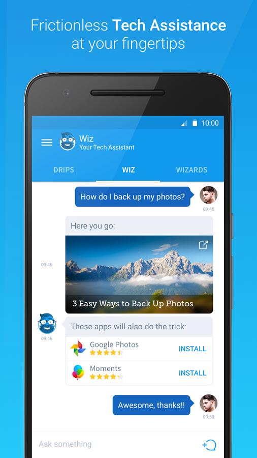 تطبيق Drippler مساعد تقني متكامل على أندرويد و iOS